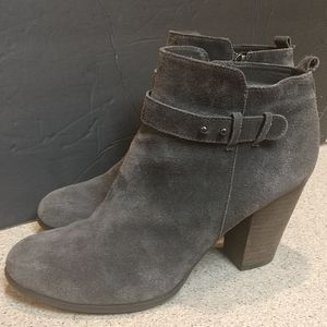 Grey Suede Booties Size 11